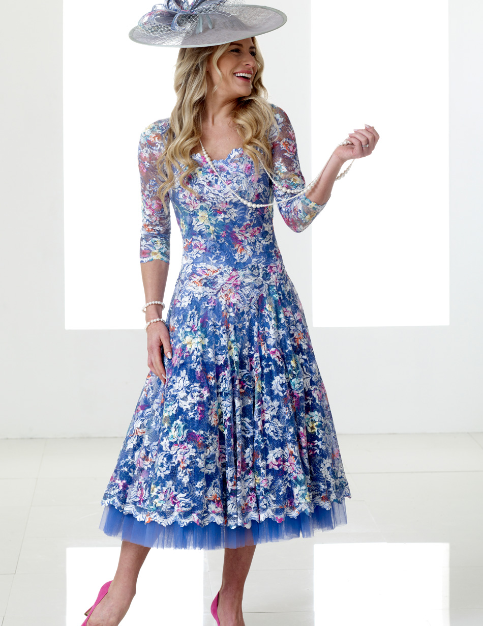Blue Lace Dress Snooty Frox