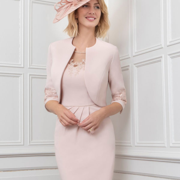 Blush dress and jacket