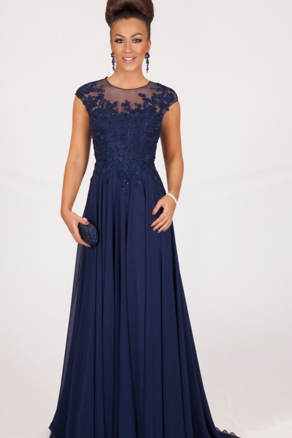 Long Navy Evening Dress