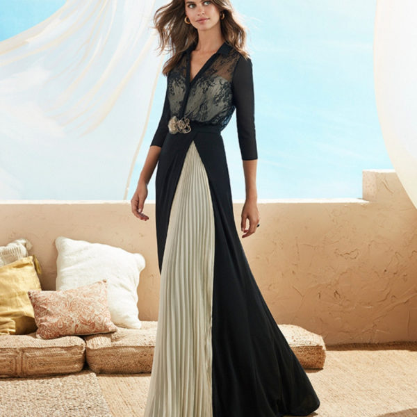 Long Pleated Dress