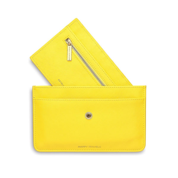 Happy Travels Yellow Wallet Estella Bartlett Snooty Frox