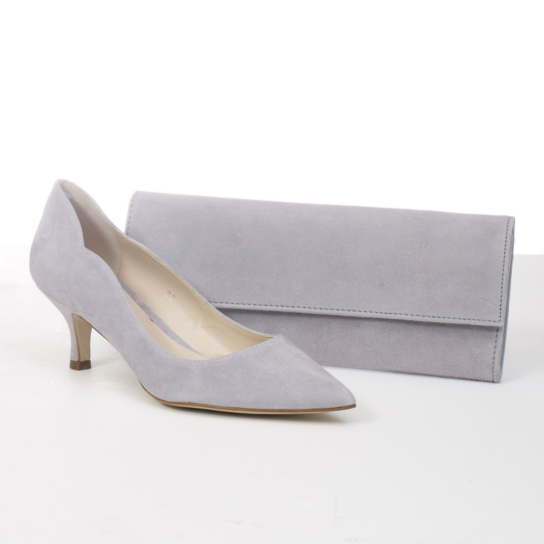Lisa Kay Mary Bag and Lynette Shoe Grey Snooty Frox