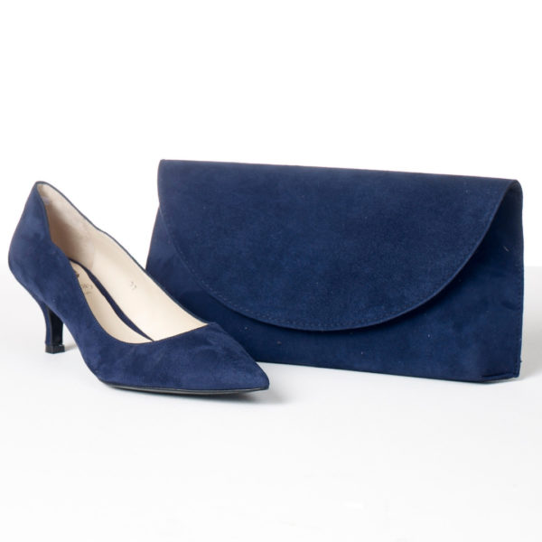 Lisa Kay Cosmo Bag and Lynette Shoes Navy Snooty Frox