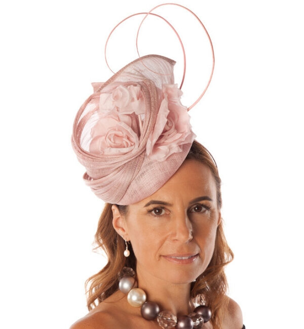 rose fascinator with feathers snooty frox