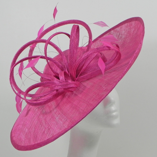 Pink Hat with feather detail snooty frox