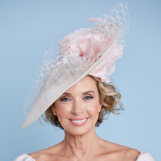 pink hat with flower detail snooty frox