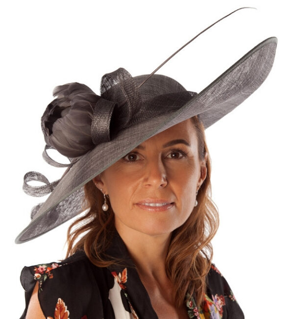 black flower detail hat snooty frox
