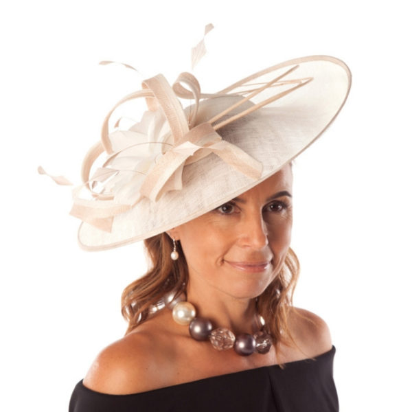disc hat with feather detail snooty frox