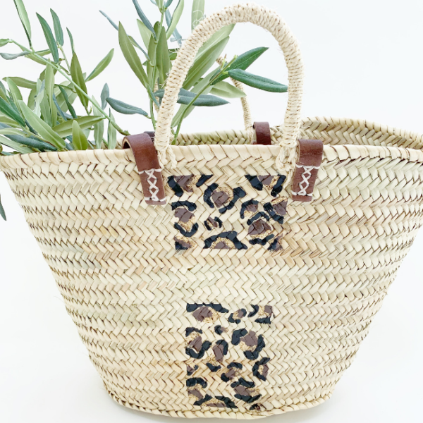 animal print raffia bag snooty frox