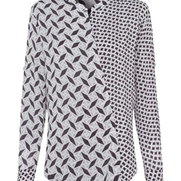 riani silver grey pattern blouse - snooty frox
