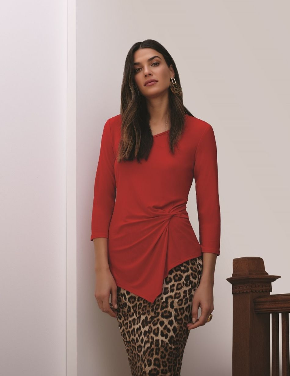 joseph ribkoff red top snooty frox