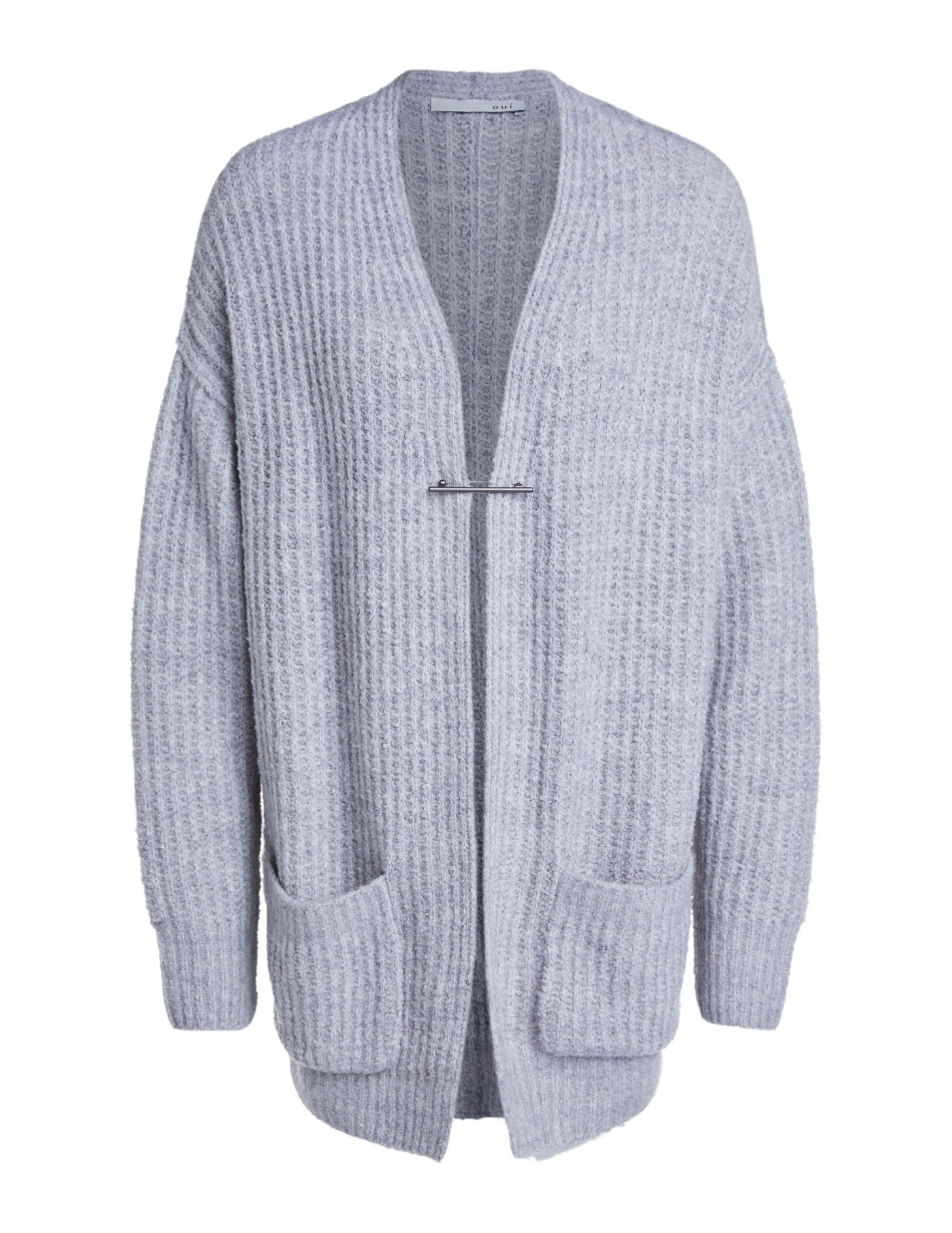 oui grey cardigan snooty frox