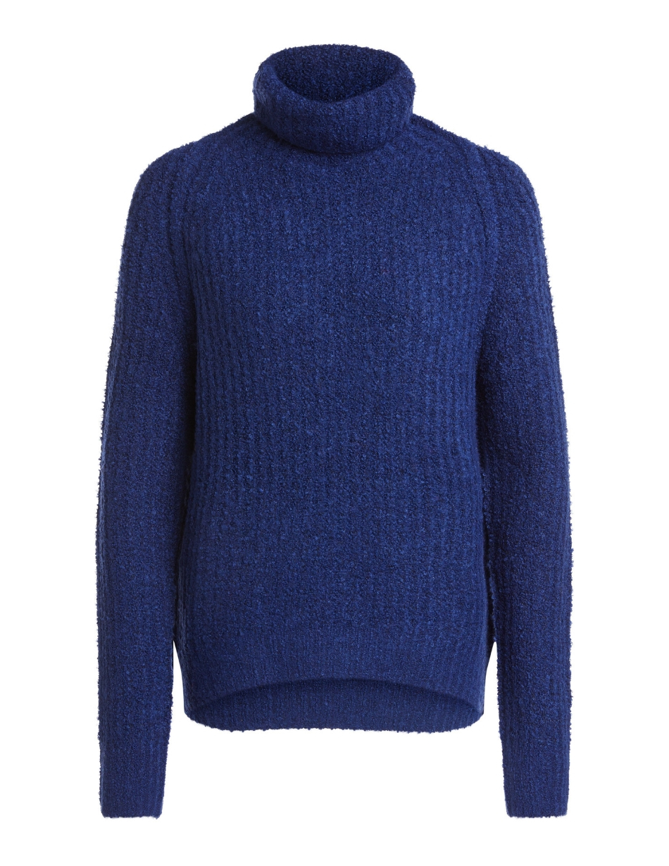 oui blue roll neck jumper snooty frox