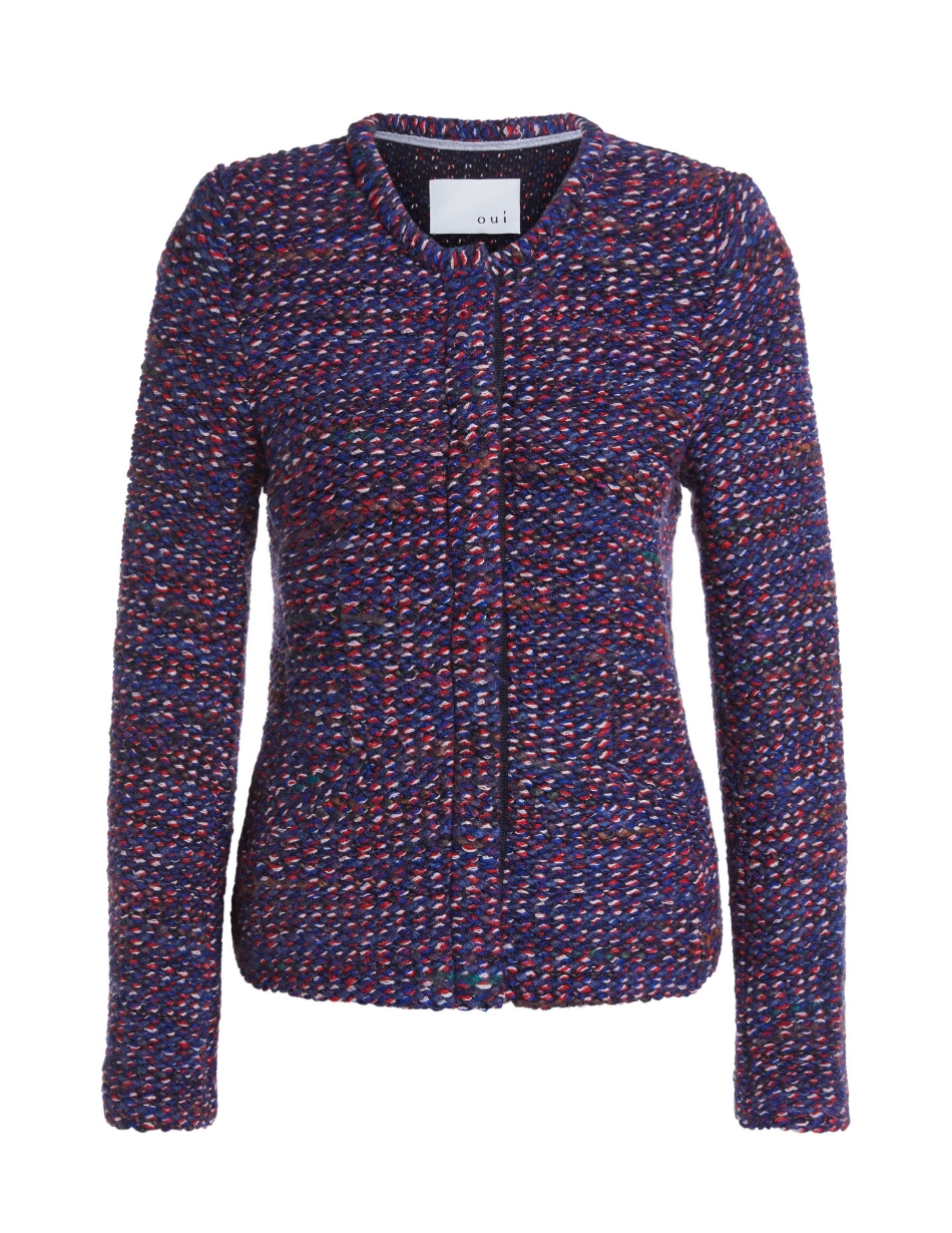 oui dark blue and red jacket snooty frox
