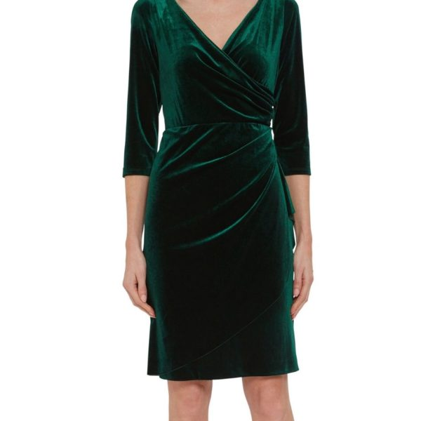 Gina Bacconi Green Velvet Dress Snooty Frox