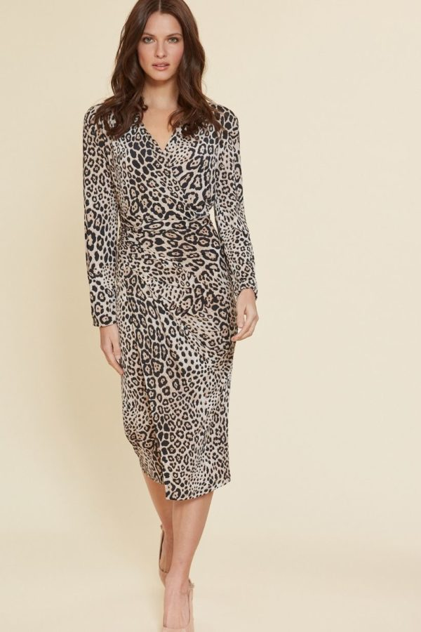 2743 Gina Bacconi Leopard Dress