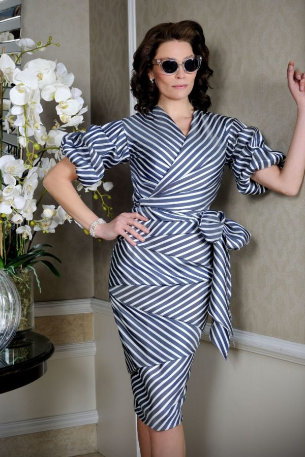Ian Stuart Blue Stripe Dress