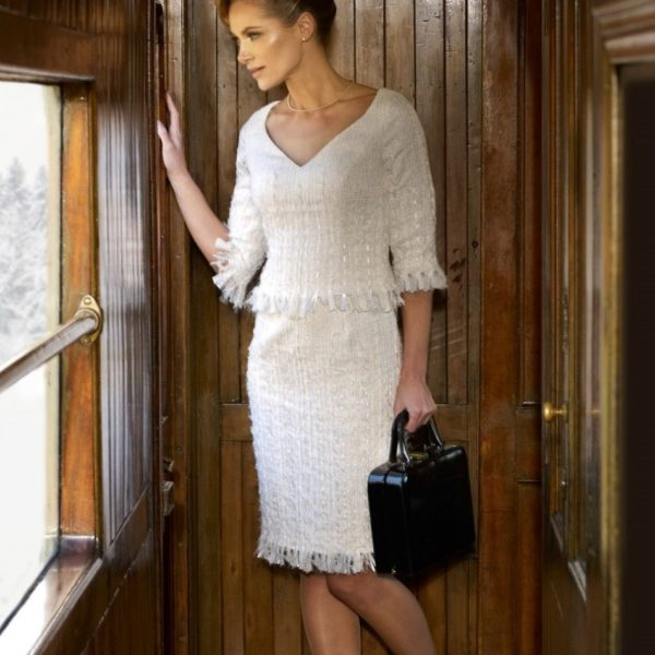 Irresistible White Tweed Dress