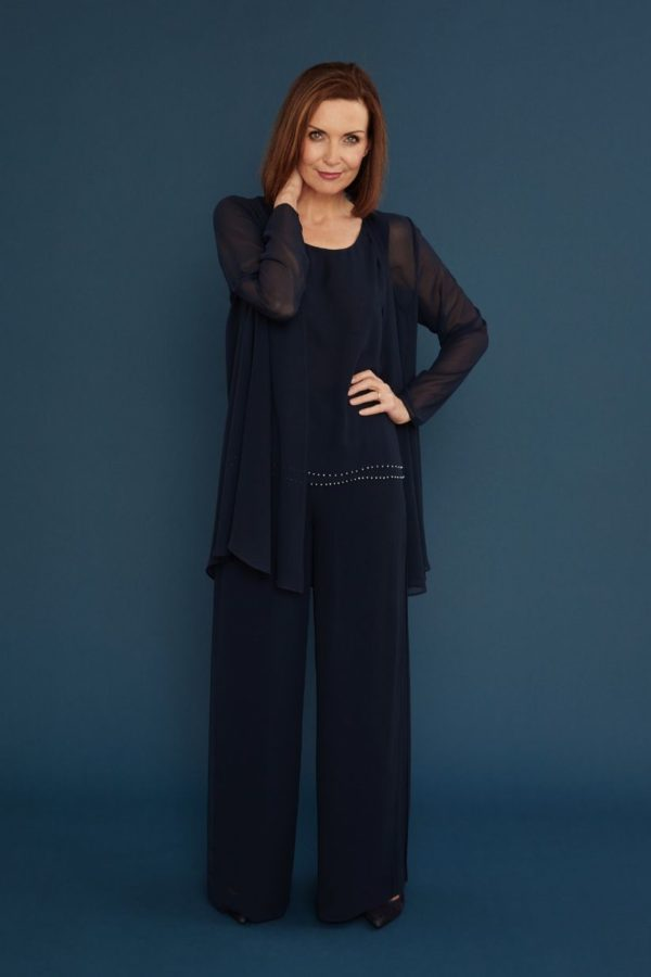 Gina Bacconi Chiffon Trousers and Jacket