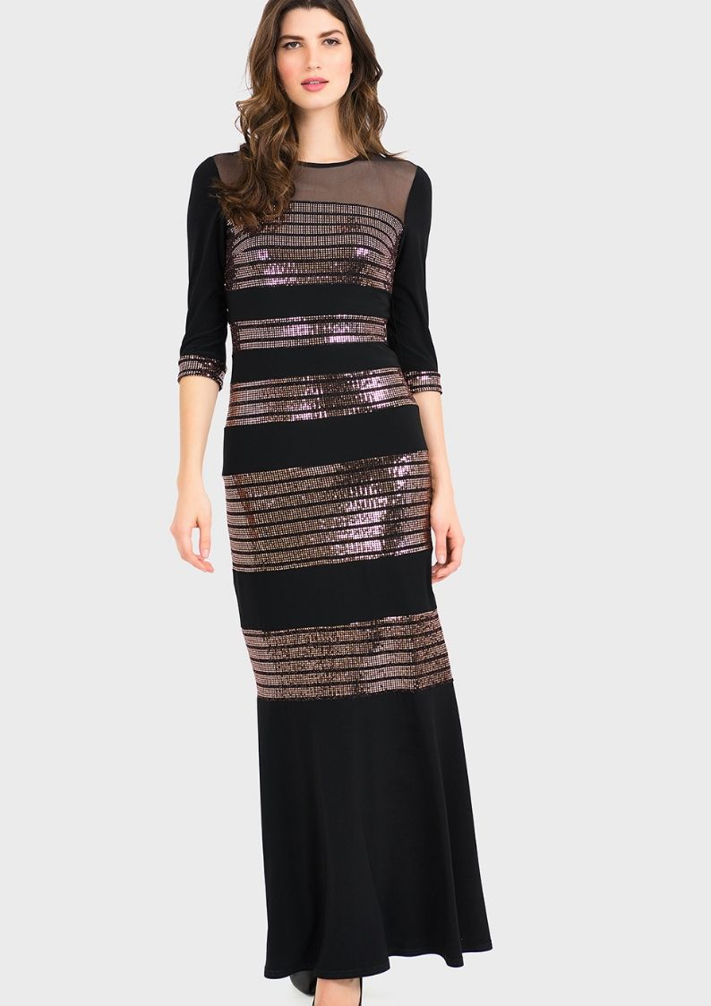 joseph ribkoff long black dress - snooty frox