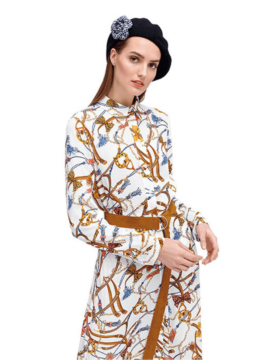 Riani Patterned Shirt Dress - Snooty Frox