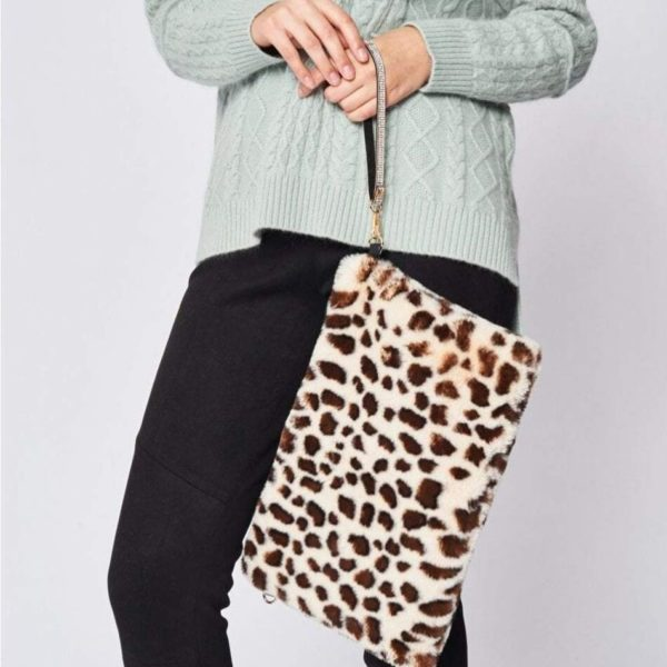 Jayley animal print fur bag - Snooty Frox