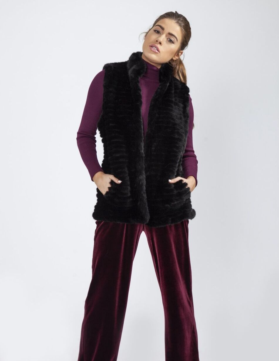 Jayley Black Gilet - Snooty Frox