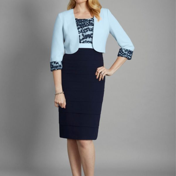 condici navy and pale blue set
