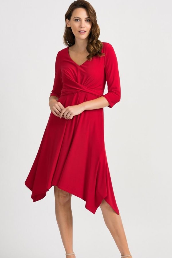 Joseph Ribkoff Red Dress - Snooty Frox