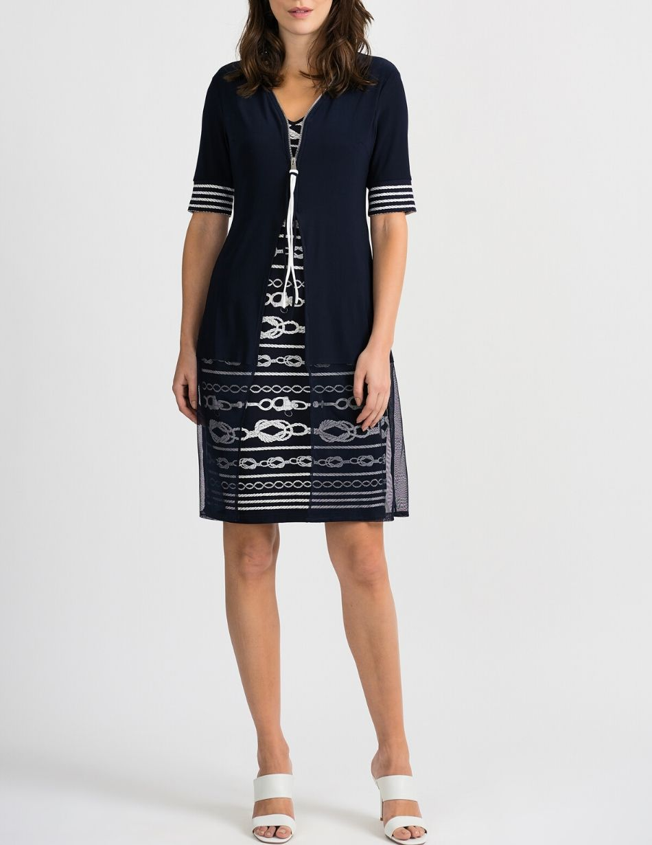 Joseph Ribkoff Navy Dress - Snooty Frox