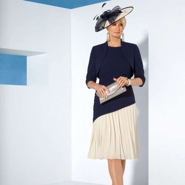 Condici navy & alabaster dress - snooty frox