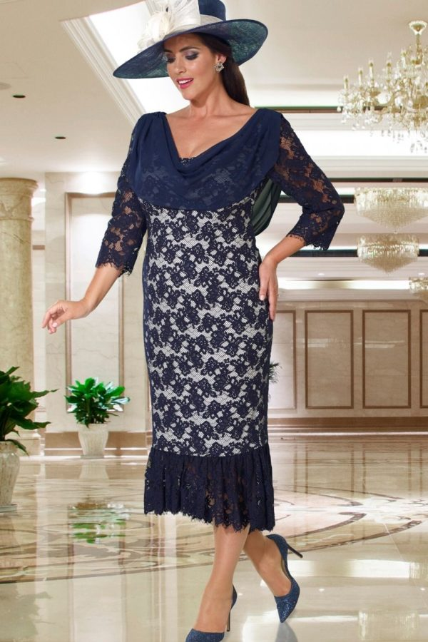 Veromia Navy & Silver Dress - Snooty Frox