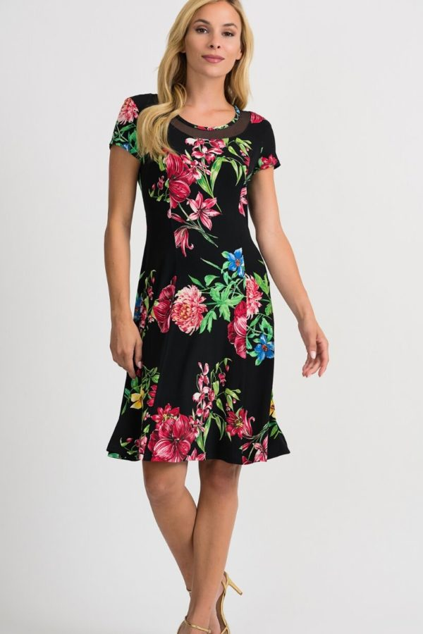 joseph ribkoff floral dress - Snooty Frox