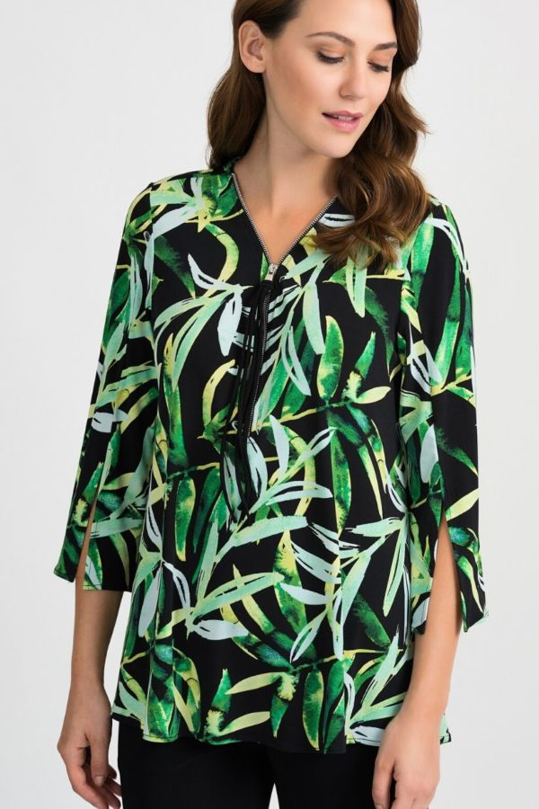 Joseph Ribkoff Leaf Print Blouse - Snooty Frox