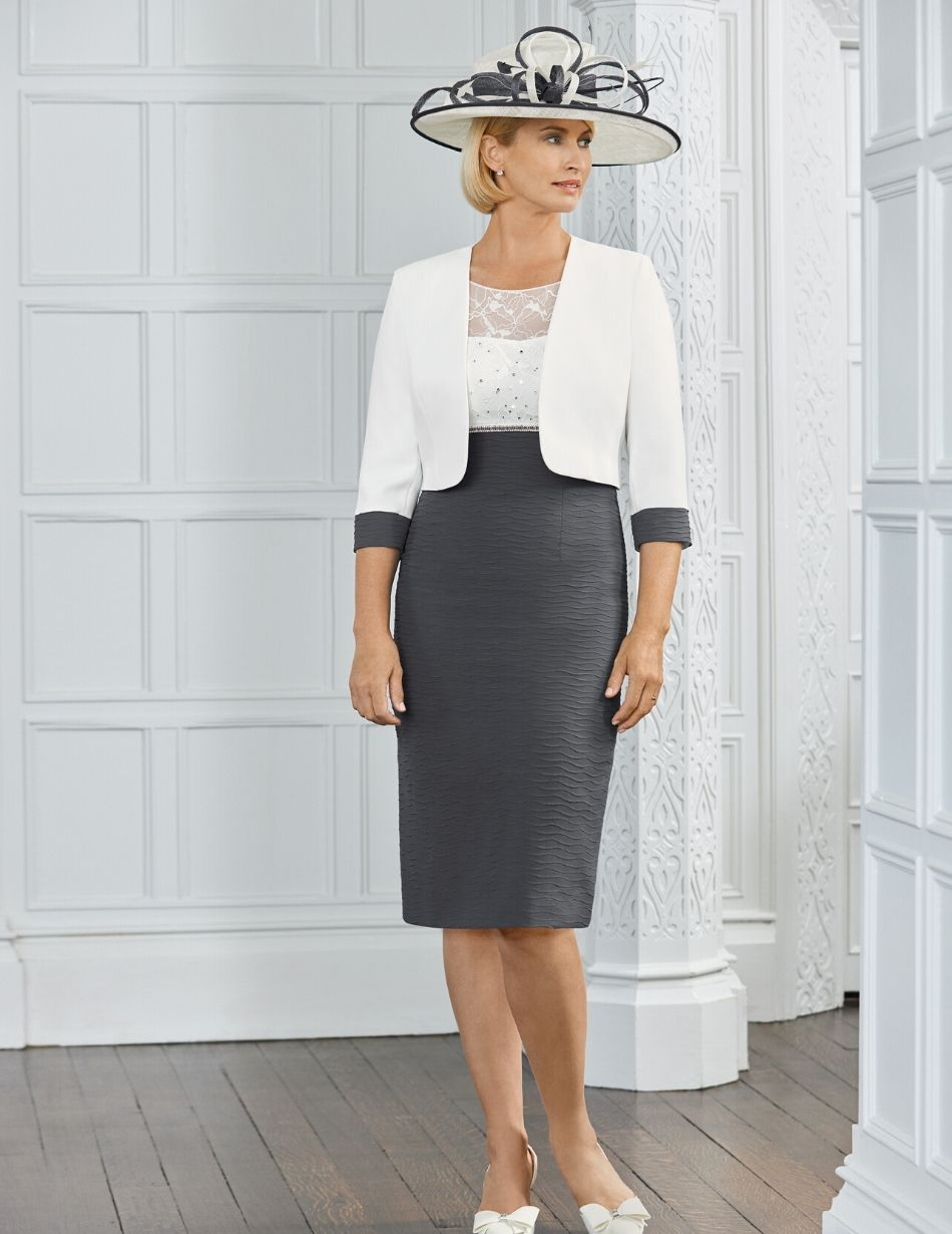 condici white and grey dress - snooty frox