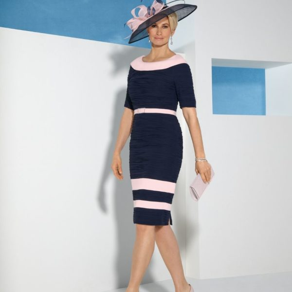 Condici Navy and Pink Dress - Snooty Frox