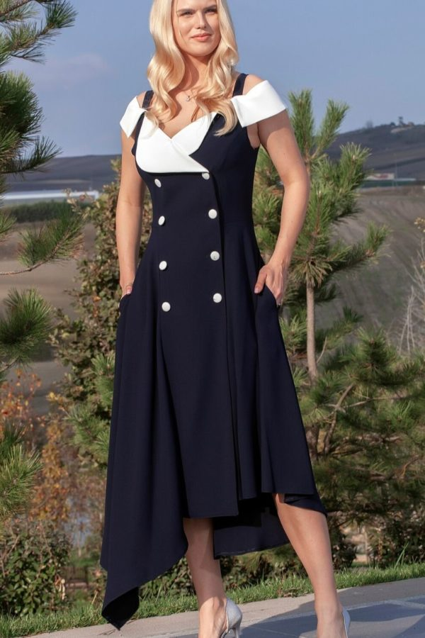 Ella Boo Navy Dress 2894 - Snooty Frox