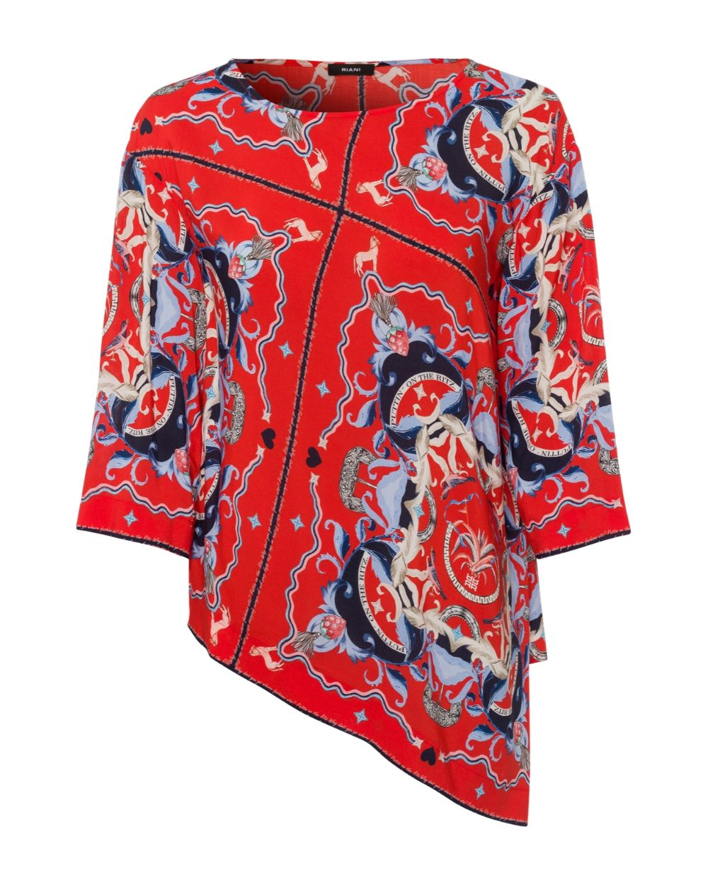 Riani Ritz Red Blouse - Snooty Frox