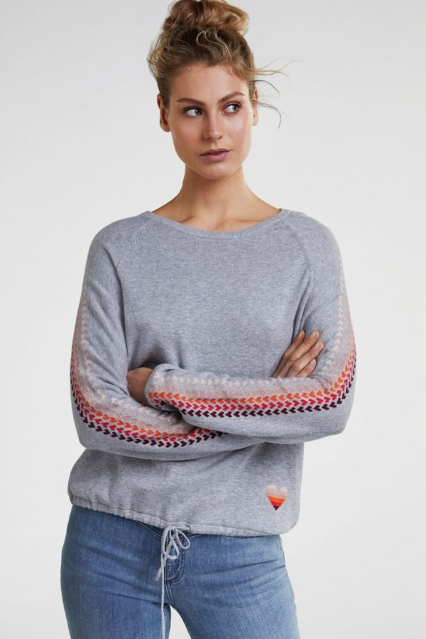 Oui Grey Jumper - Snooty Frox