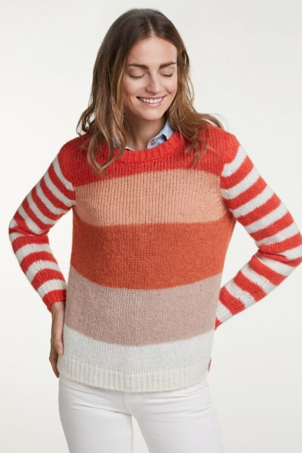 Oui Stripe Jumper - Snooty Frox