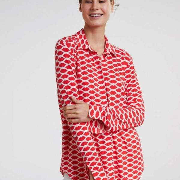 Oui Red Blouse - Snooty Frox