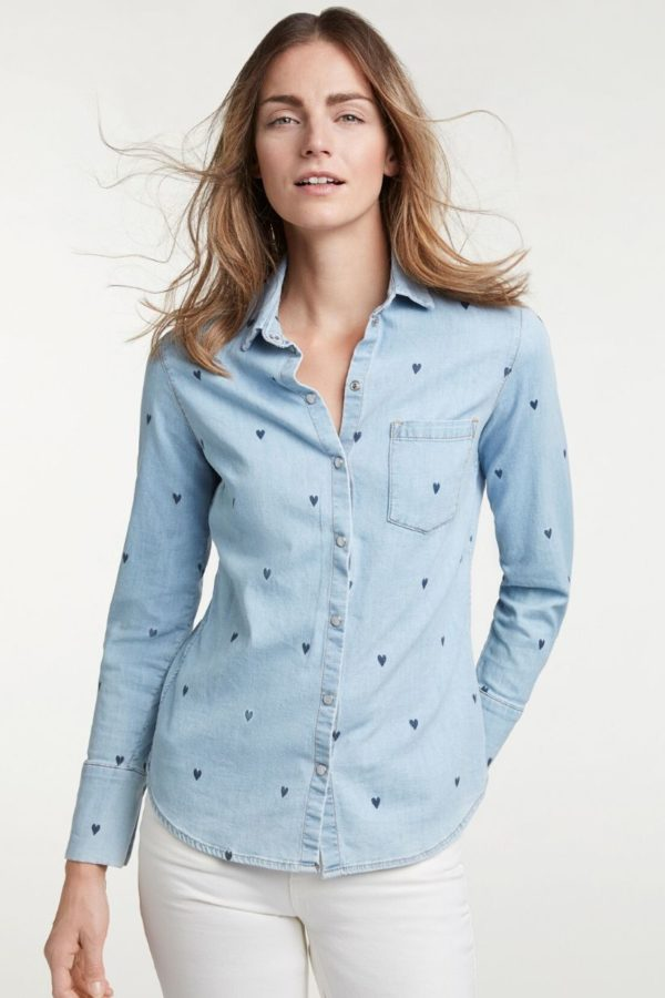 Oui Blue Blouse - Snooty Frox