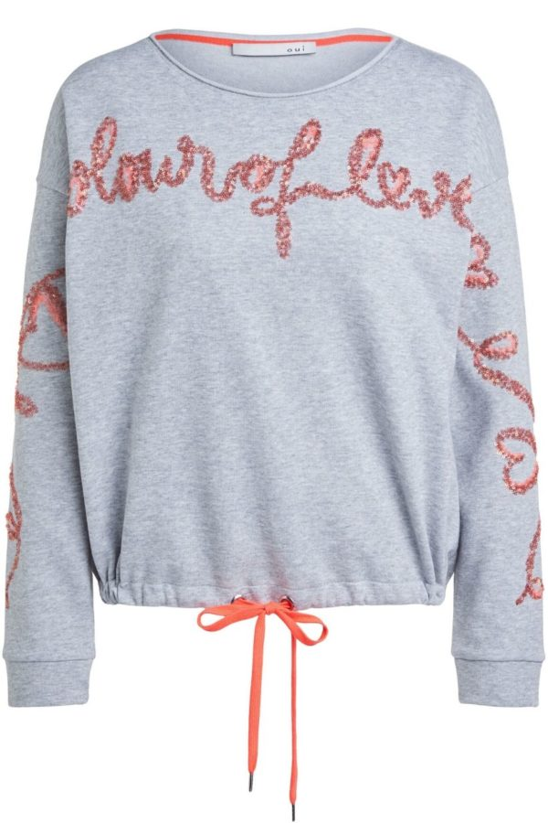 Oui Grey Sweatshirt - Snooty Frox