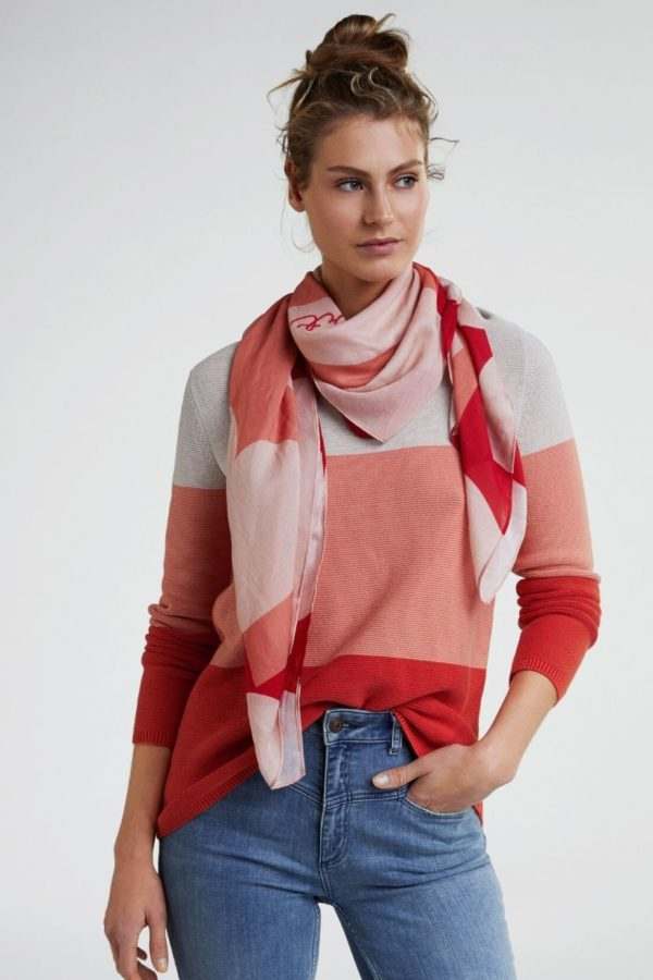 Oui Rose Red Scarf - Snooty Frox