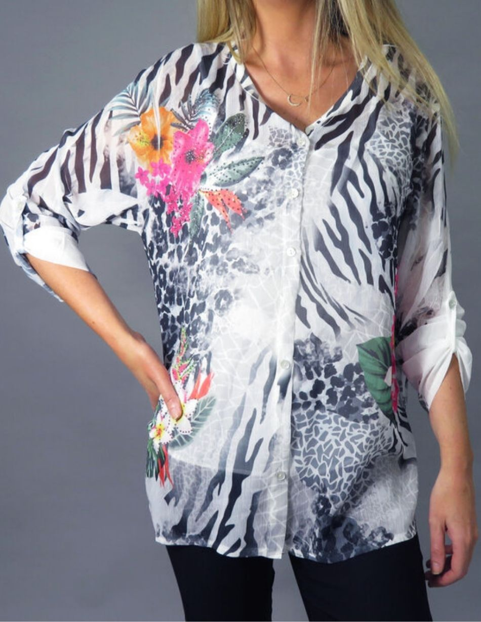 Snooty Frox Decollage Blouse