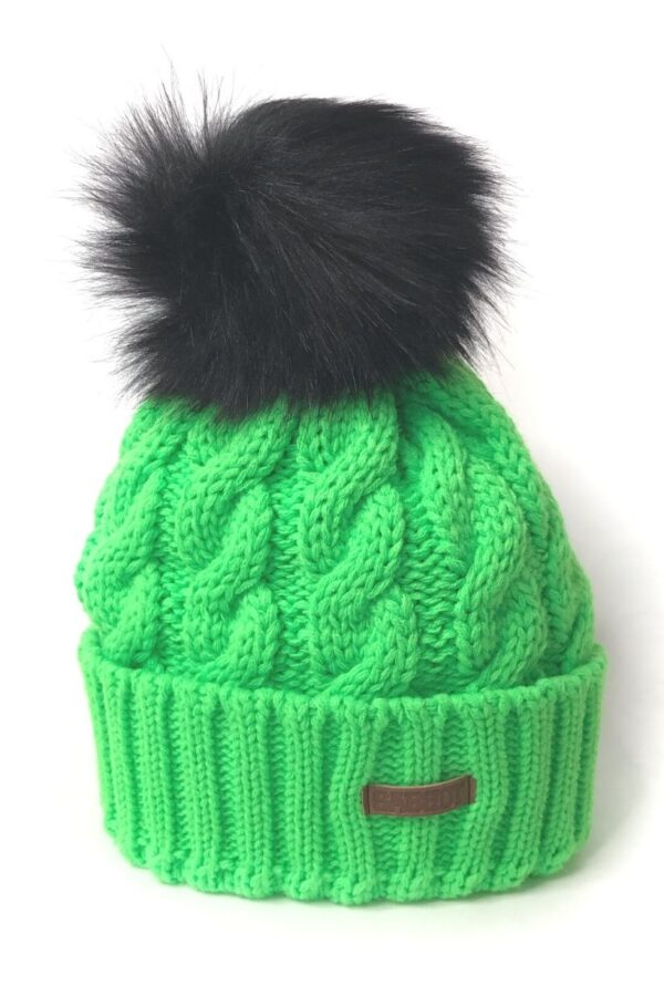 Green Bobble Hat - Snooty Frox