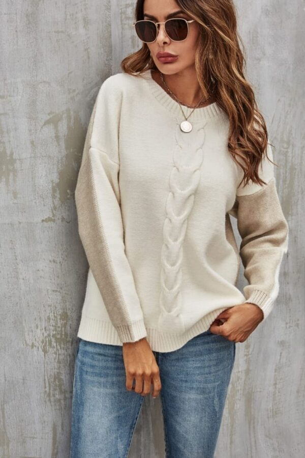 cream and beige sweater - snooty frox