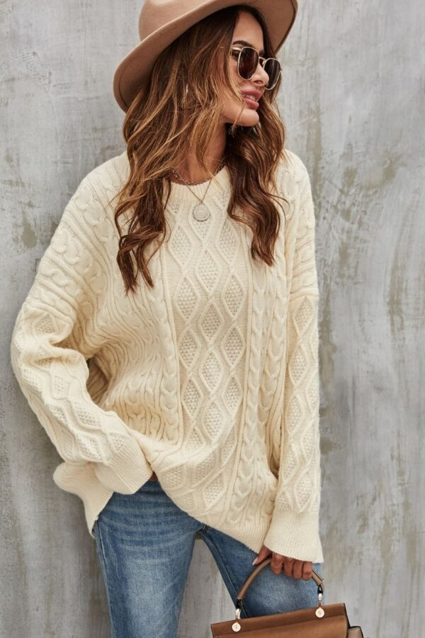 Cream cable knit sweater - Snooty Frox