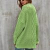 Lime green cable knit sweater - snooty frox