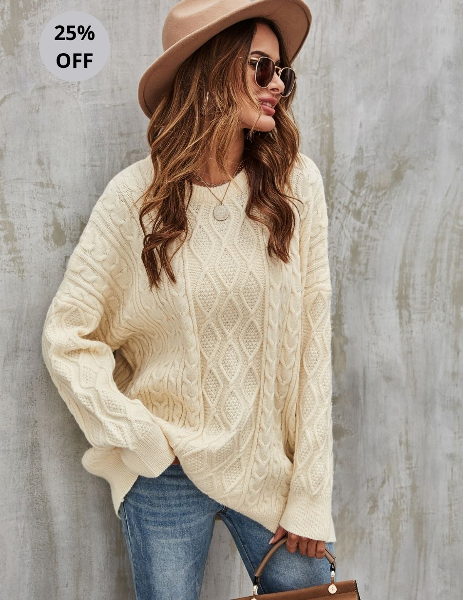 Cream Sweater - Snooty Frox